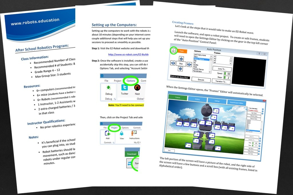 EZ-Robot After School Curriculum and Training
